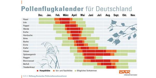 Pollenflugkalender für Deutschland-DAK